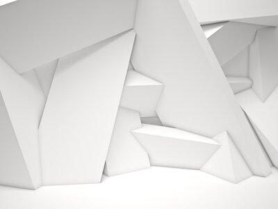 Fotomural 3d parede geométrica