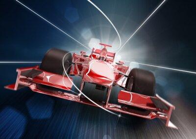 Fotomural 3d rendem, fórmula um carro conceito
