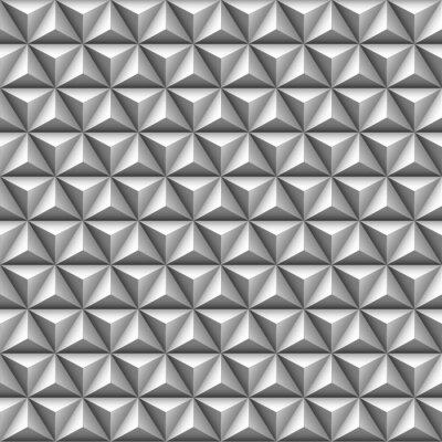 Fotomural 3d triângulo padrão sem emenda