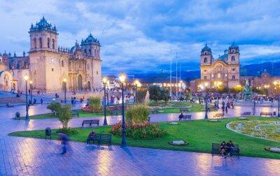 Fotomural A catedral em Cusco, Peru