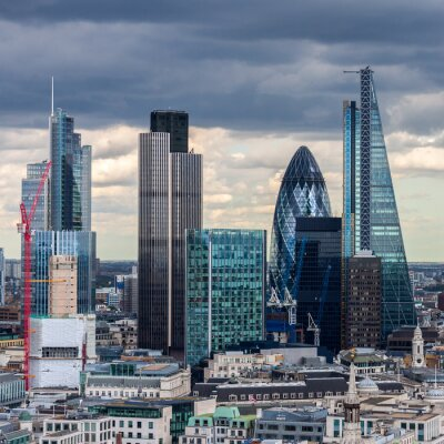 Fotomural A cidade de Londres no período da tarde