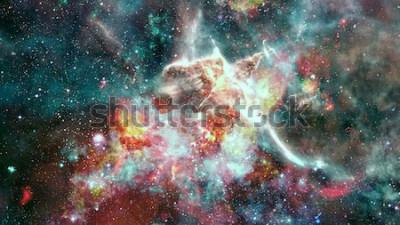 Fotomural A explosão supernova. Nebulosa da estrela brilhante. Galáxia distante. Fogos de artifício de ano novo. Imagem abstrata. Elementos desta imagem fornecida pela NASA.
