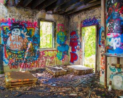 Fotomural Abandonado Graffit