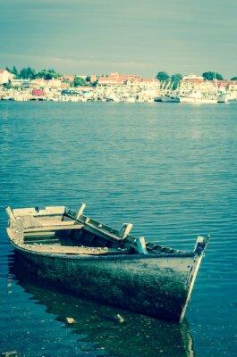 Fotomural Abandonado, madeira, bote
