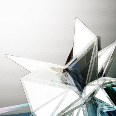 Fotomural Abstract 3D cristal vector