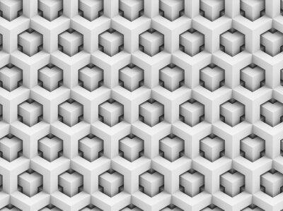 Fotomural Abstract 3D poligonal padrão sem emenda - fundo geométrico estrutura de caixa