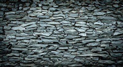 Fotomural Abstract background of Stone wall vintage cool tone