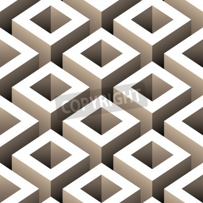 Fotomural abstract boxes 3d seamless pattern