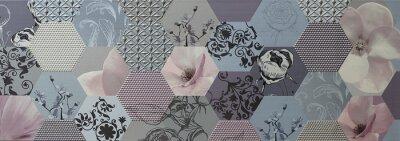 Fotomural Abstract mosaic tiles Português
