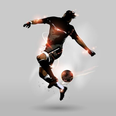 Fotomural abstract soccer jumping touch ball