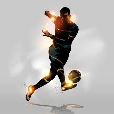 Fotomural Abstract soccer tiro rápido