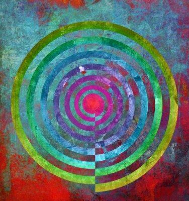 Fotomural abstractamente textur Zentrum spirale