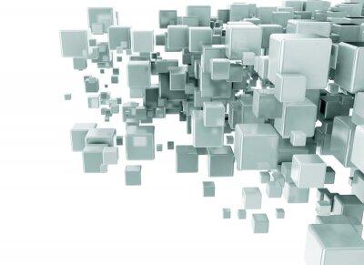 Fotomural Abstrato 3d cubos de fundo