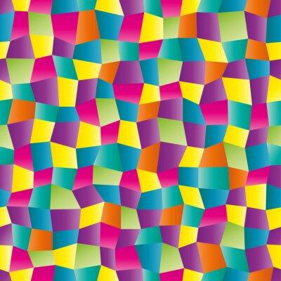 Fotomural Abstrato da cor teste padrão geométrico