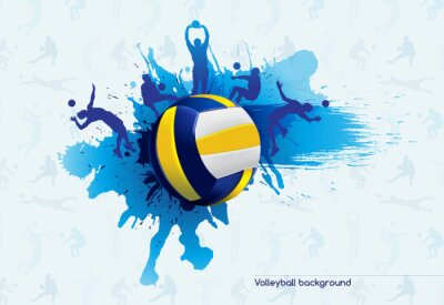 Fotomural Abstrato Voleibol