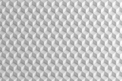 Fotomural Abstratos, branca, caixas, escada, textura, fundo, 3D