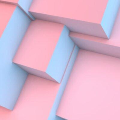 Fotomural Abstratos, fundo, com, rosa, quartzo, serenidade, cubos