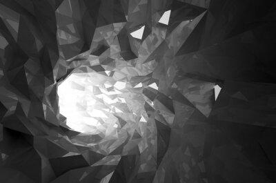 Fotomural Abstratos, pretas, cristal, digital, túnel, 3D