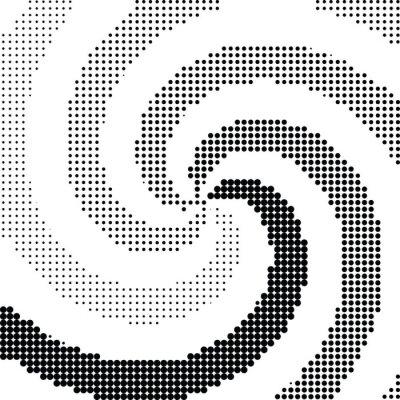 Fotomural Abstratos, redemoinho, halftone, ponto, vetorial
