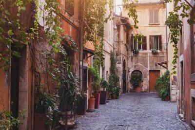 Fotomural Acolhedora rua em Roma, Itália