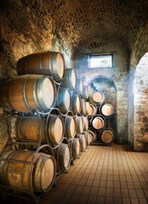 Fotomural Adega com os tambores para armazenamento de vinho