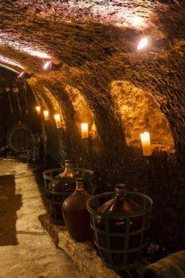 Fotomural adega em Velka TRNA, região vinícola de Tokaj, Eslováquia