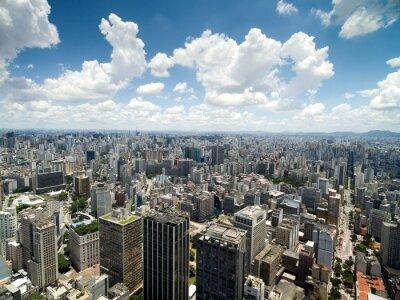 Fotomural Aéreo, vista, anhangabau, vale, são, paulo, brasil
