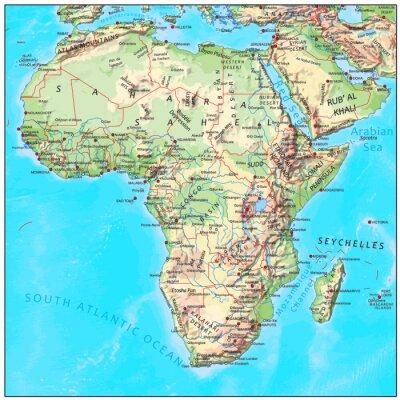 Fotomural África Física continente mapa