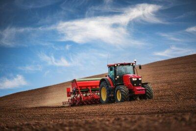 Fotomural Agricultor, trator, semeadura, colheitas, campo