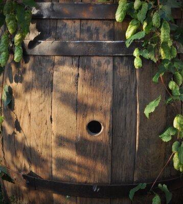 Fotomural Ainda, vida, barril, cerveja