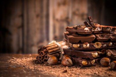 Fotomural Ainda, vida, quebrada, chocolate, barra