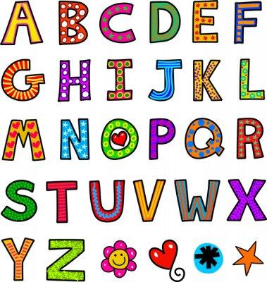 Fotomural Alfabeto do Doodle do texto