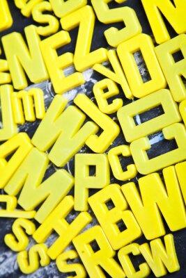 Fotomural Alfabeto, quadro negro, a educação