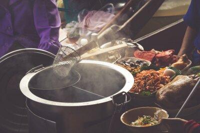 Fotomural Alimento, Damnoen, Saduak, flutuante, mercado, Bangkok, tailandia