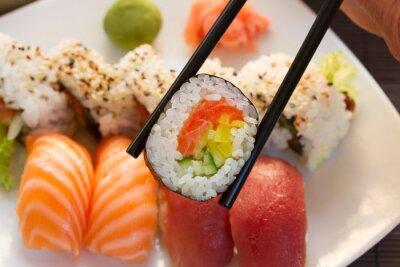 Fotomural almoço com prato de sushi