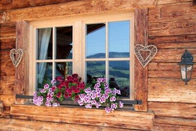 Fotomural Alpes na janela