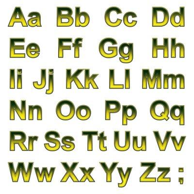 Fotomural Alphabet pseudo 3d letras