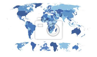 Fotomural Alto detalhado mapa do mundo