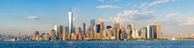 Fotomural Alto, resolução, panorâmico, vista, centro cidade, novo, york, cidade, skyline, visto, oceânicos