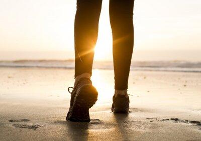 Fotomural Andando para o pôr do sol