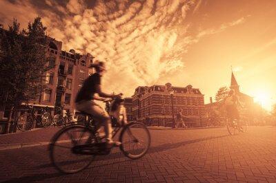 Fotomural Andar de bicicleta na cidade
