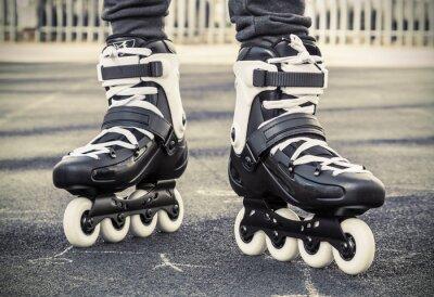 Fotomural andar de patins para patinação. Foto tonificada
