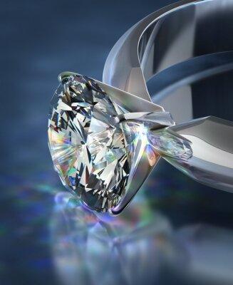 Fotomural anel de diamante