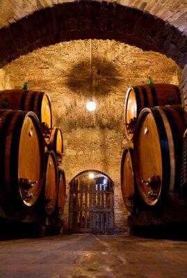 Fotomural Antigas, tradicional, escuro, vinho, adega, grande, madeira, barris