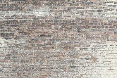 Fotomural Antigo muro de tijolo vermelho com textura de fundo pintura branca