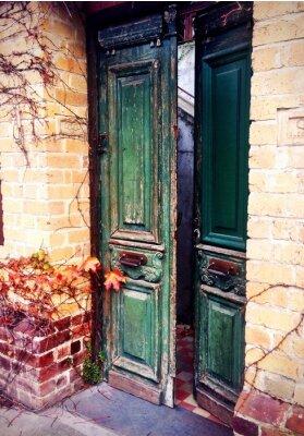 Fotomural antigo porta aberta