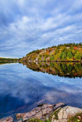 Fotomural Ao Ar Livre Canadá canadá outubro outono Ontário azul cabine nuvem cor cottege queda verde ilha lago paisagem conto natureza laranja vermelho estação árvore água conservação geologia rocha, terra