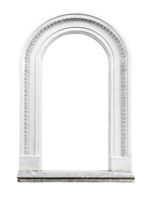 Fotomural arco de pedra isolado no fundo branco
