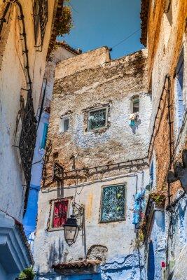 Fotomural Arquitetônico detalhe em Chefchaouen, Marrocos, África