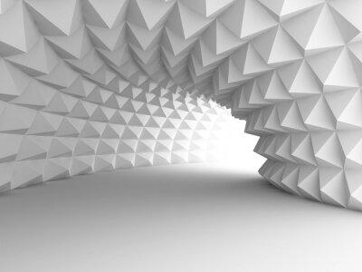Fotomural Arquitetura abstrata do túnel com luz do fundo